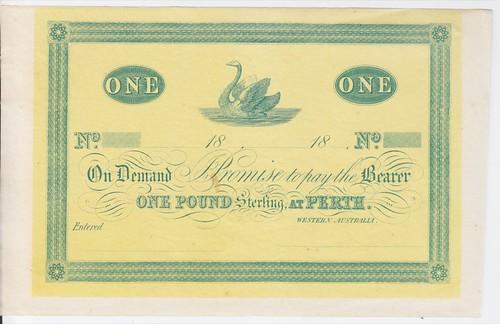 1865 Australia George Shenton One Pound Note