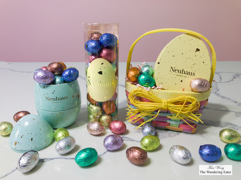 Neuhaus Easter Chocolate Eggs - Neuhaus Easter Tin, Cello Tube, Little Yellow Egg box