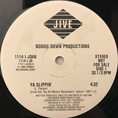 BOOGIE DOWN PRODUCTION:YA SLIPPIN'(LABEL SIDE-A)
