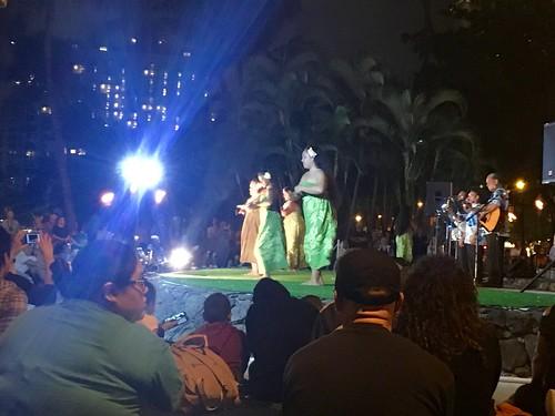 Hulu show on Waikiki Beach