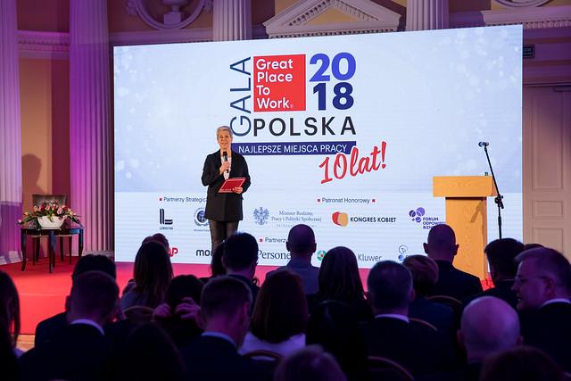 Gala Najlepszych Miejsc Pracy Polska 2018