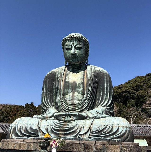 Great Buddha in front of blue skies