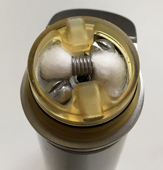 The GOM Ultimate with wick and airflow installed