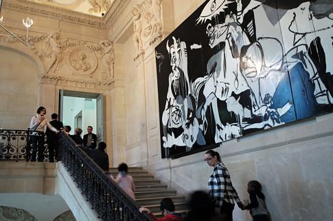 Museo Picasso Paris.18c23 Guernica 0063 Variante Uti 485 Guernica En El Museo Flickr