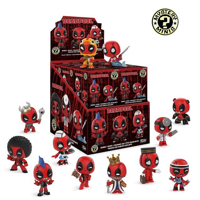 超多奇趣造型令人眼花撩亂~ Funko Mystery Minis 系列【死侍】Deadpool 好想全部抽回家啊!!