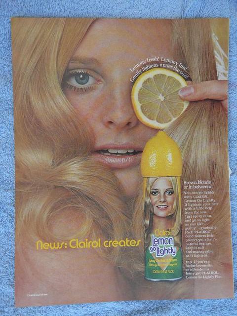 Clairol Lemon Go Lightly Hair Lightner 1970