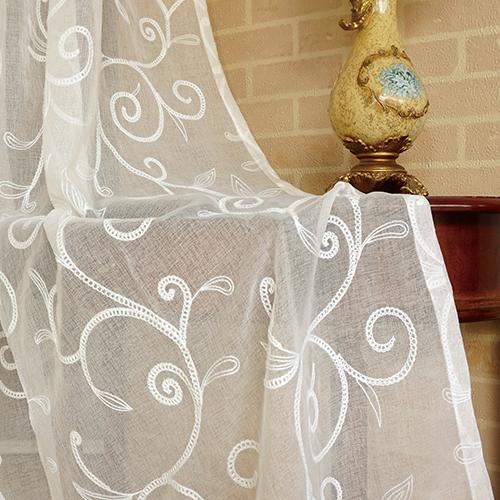 寒枝闕靜 簡約藤蔓繡花 展覽場裝飾佈置 新娘禮服服裝裝飾布 DB1590036