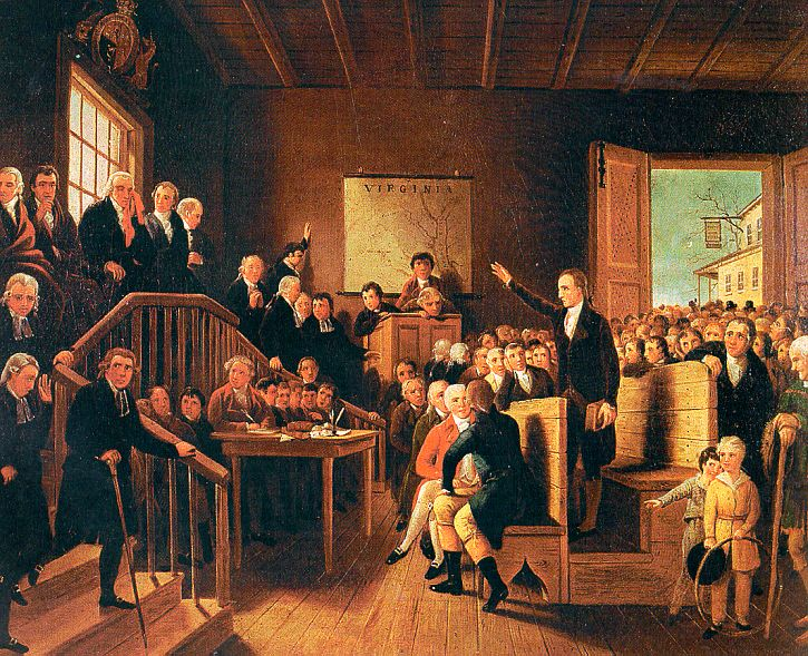 Patrick Henry Arguing the Parson's Cause by George Cooke, circa 1834