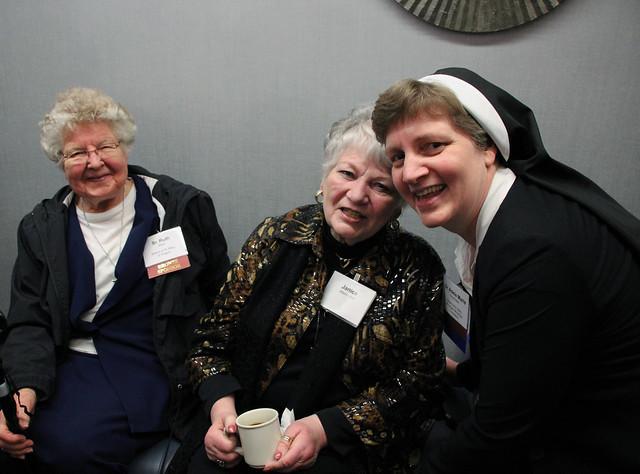 Left to right - Sr. Ruth Etzel, Janice Altenhofen and Sr. Adele Marie Altenhofen