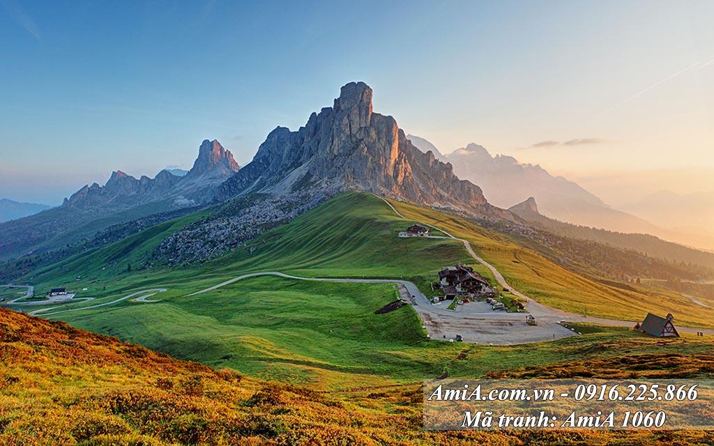 AmiA 1060 - Tranh phong cảnh quê hương vùng đồi núi