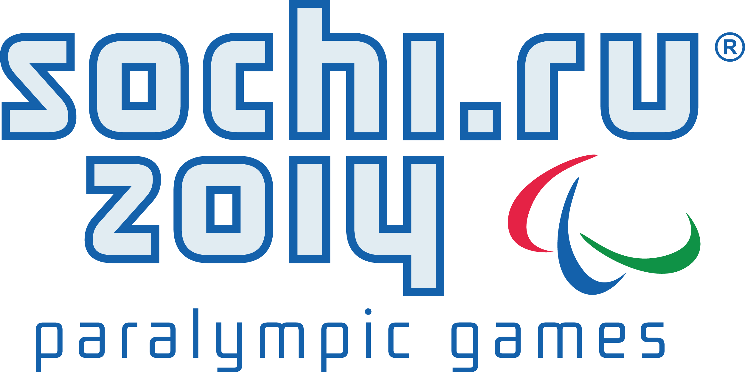Vector emblem of the Paralympic games in Sochi 2014