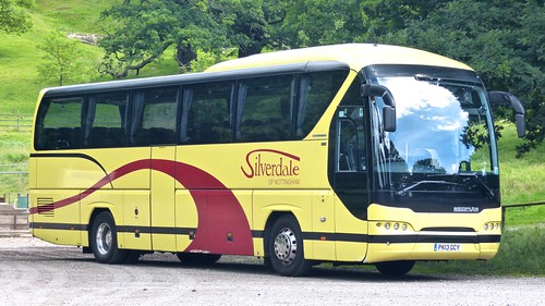 PK13 GCY 'Silverdale of Nottingham'. Neoplan N2216SHD Tourliner on 'Dennis Basford's railsroadsrunways.blogspot.co.uk'