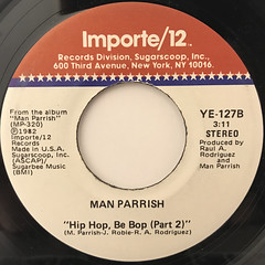 MAN PARRISH:HIP HOP BE BOP(DON'T STOP)(LABEL SIDE-B)