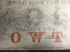 Banknote protector image TWO on back