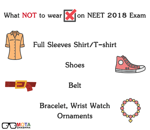 What not to wear on NEET 2018 Exam