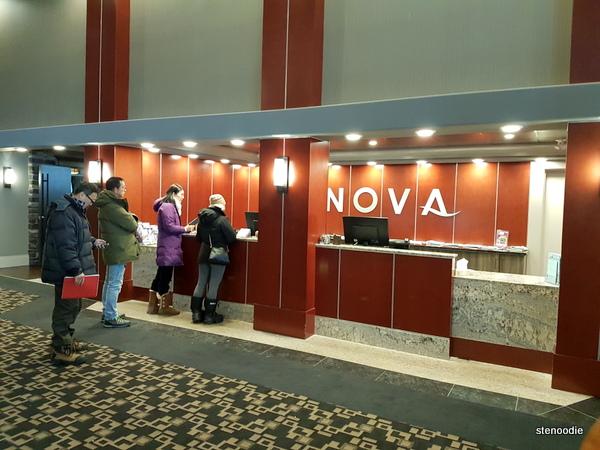 Chateau Nova Yellowknife Hotel reception desk