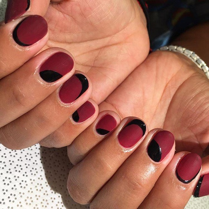 Matte Nail Colors Designs