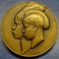 1930 Paris Exposition Peulhs of Guinea Medal obverse