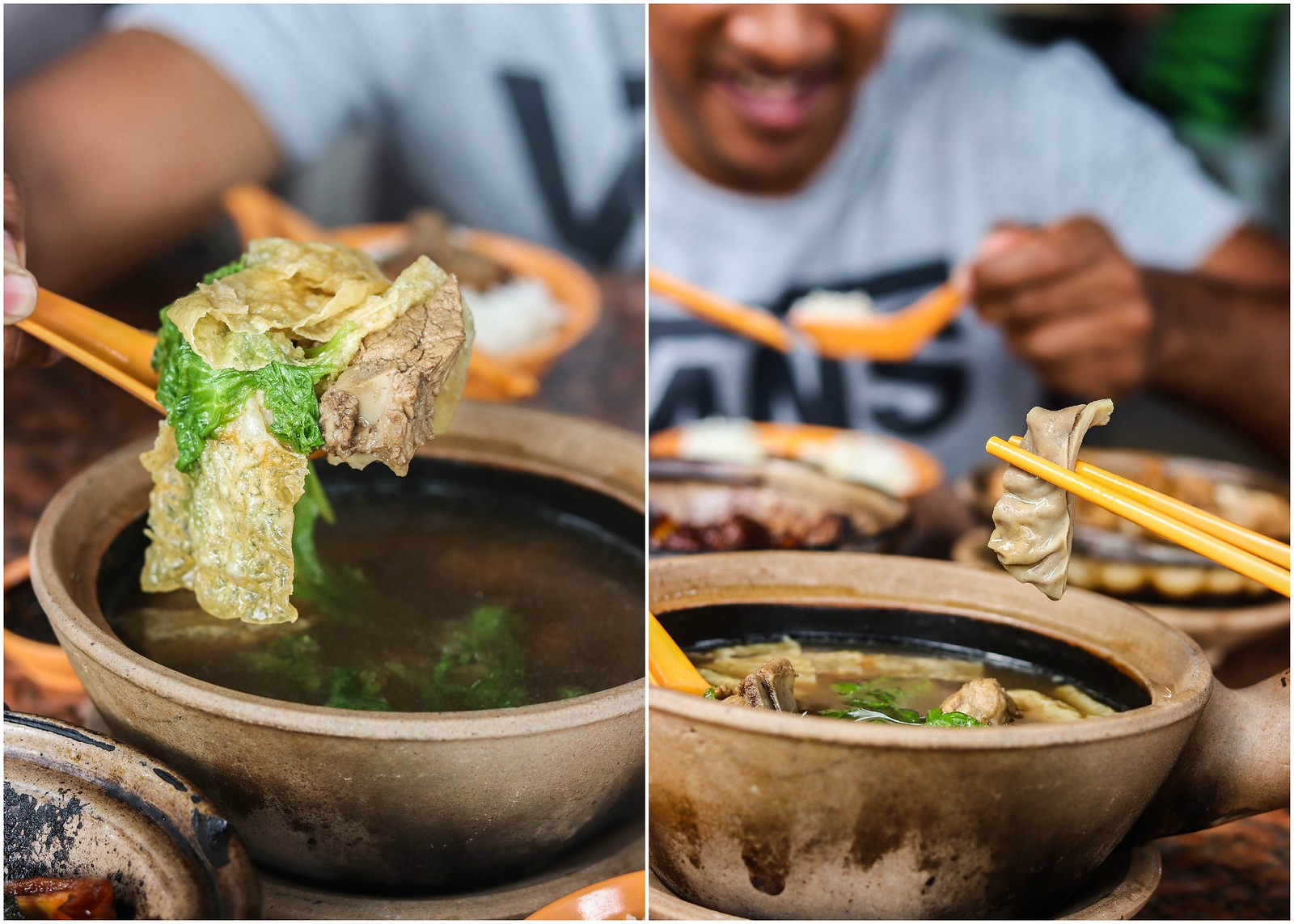 ABC Herbal Claypot Bak Kut Teh collage