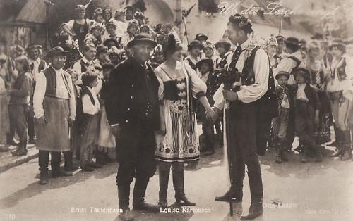 Ernst Tautenhayn, Louise Kartousch and Otto Langer in Wo die Lerche singt (1918)
