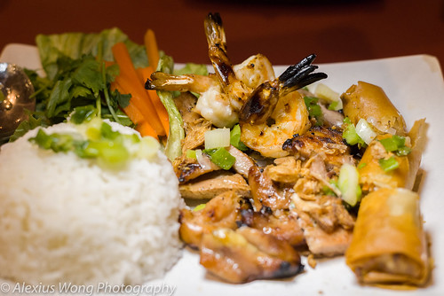 Grilled Shrimp, Chicken, Spring Roll, Anh Dao, Washington DC