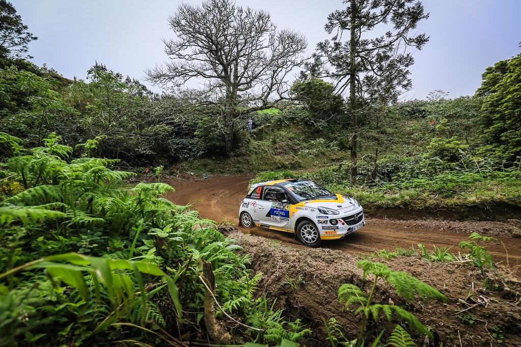 43 SESKS Martin (lva), RENARS Francis (lva),Adac Opel rallye junior team, OPEL ADAM R2, action during the 2018 European Rally Championship ERC Azores rally,  from March 22 to 24, at Ponta Delgada Portugal - Photo Jorge Cunha / DPPI