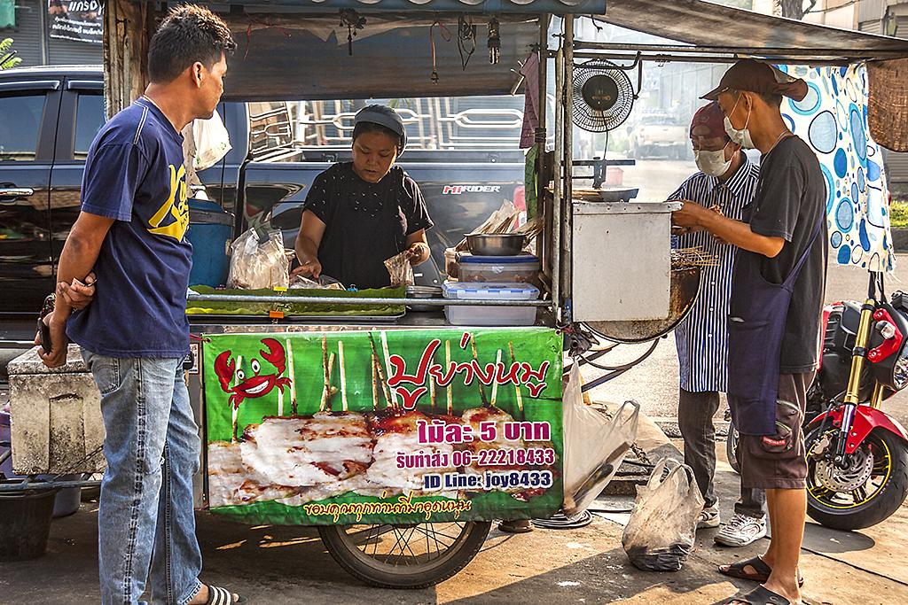 Sidewalk food stand--Chanthaburi