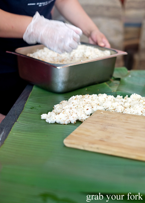 Garlic rice for our boodle fight at Sizzling Fillo in Lidcombe Sydney