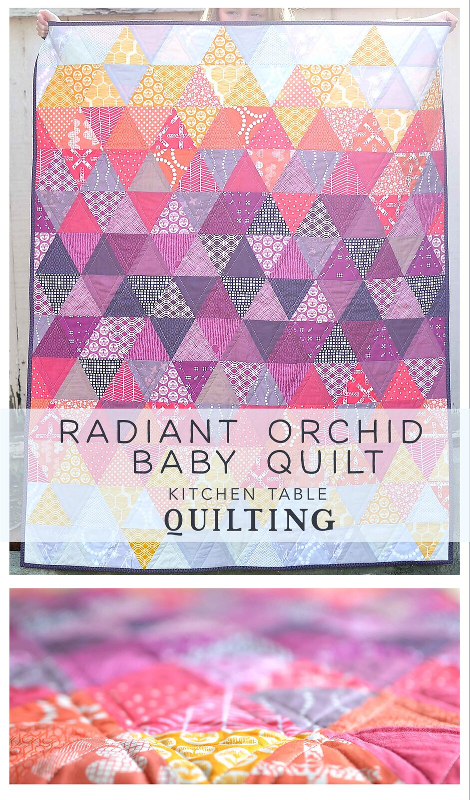 Radiant Orchid Baby Quilt - Kitchen Table Quilting