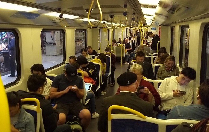 Thursday night train to Frankston, 8:30pm