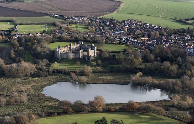 Framlingham Castle - aerial image