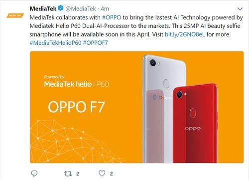 Mediatek-Twitter-OPPO-F7