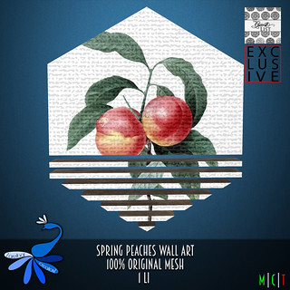ZcZ Spring Peaches Wall Art