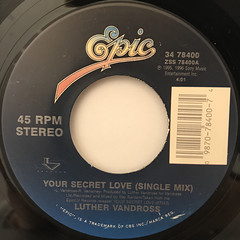 LUTHER VANDROSS:YOUR SECRET LOVE(LABEL SIDE-A)