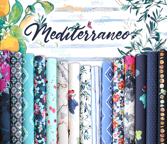 Art Gallery Fabrics Mediterraneo Collection by Katarina Roccella
