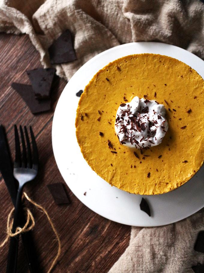 全素免烤南瓜派 (無麵粉) vegan-no-bake-pumpkin-pie (5)
