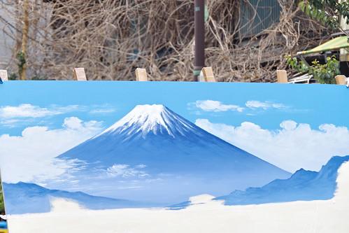 Mt.Fuji public bath landscape live painting 09