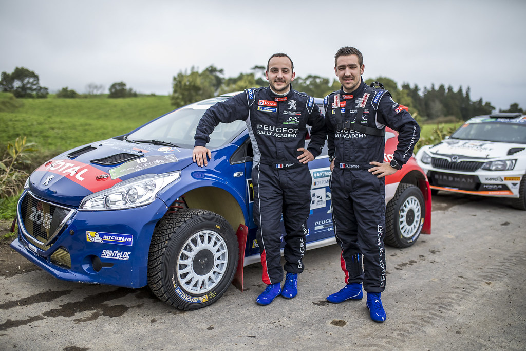 10 PELLIER Laurent (fra), COMBE Geoffrey (fra), PEUGEOT RALLY ACADEMY, PEUGEOT 208 T16, portrait during the 2018 European Rally Championship ERC Azores rally,  from March 22 to 24, at Ponta Delgada Portugal - Photo Gregory Lenormand / DPPI