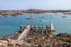 The Chausey jetty at 12:00