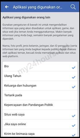 Mengontrol info pribadi yang dapat dilihat teman.