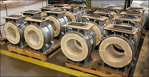 High Temperature Pre-Insulated Pipe Supports for an Ethylene Production Plant in Texas