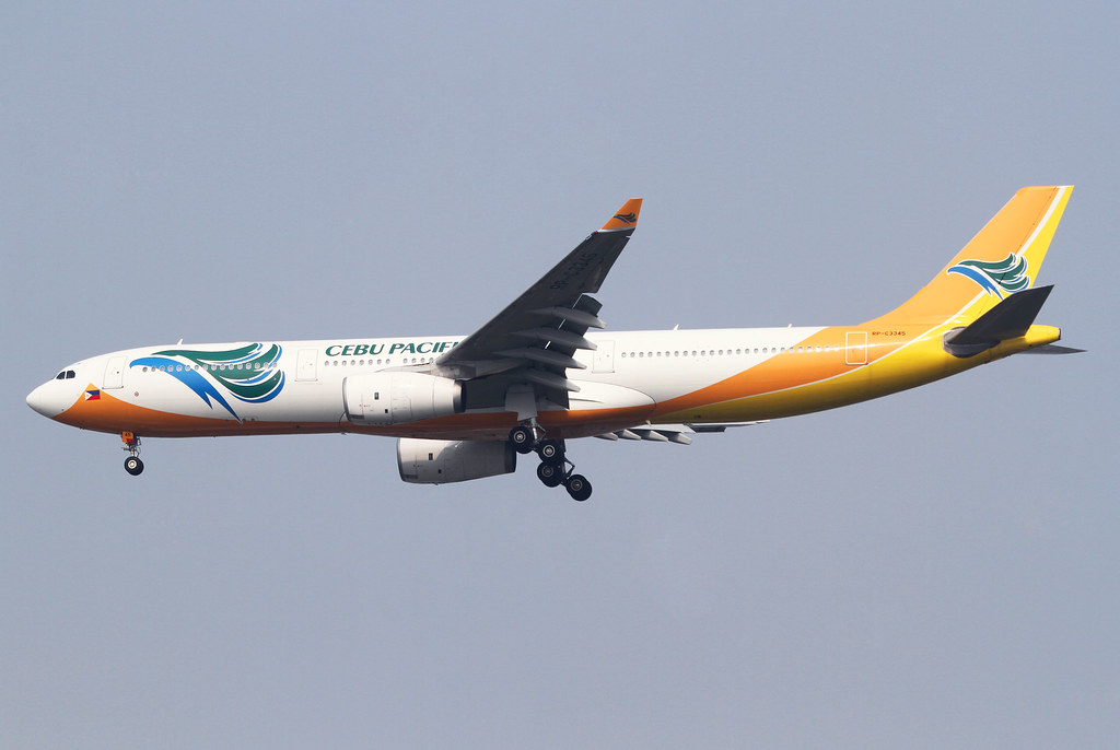 Short final for RWY19R inbound from Manila MNL. Delivered 09/2014.