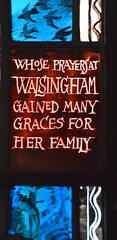 whose prayers at Walsingham gained many graces for her family (Margaret Edith Aldrich Rope, 1957)