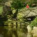 7. Puente sobre las aguas del estanque del parque St. Stephen Green