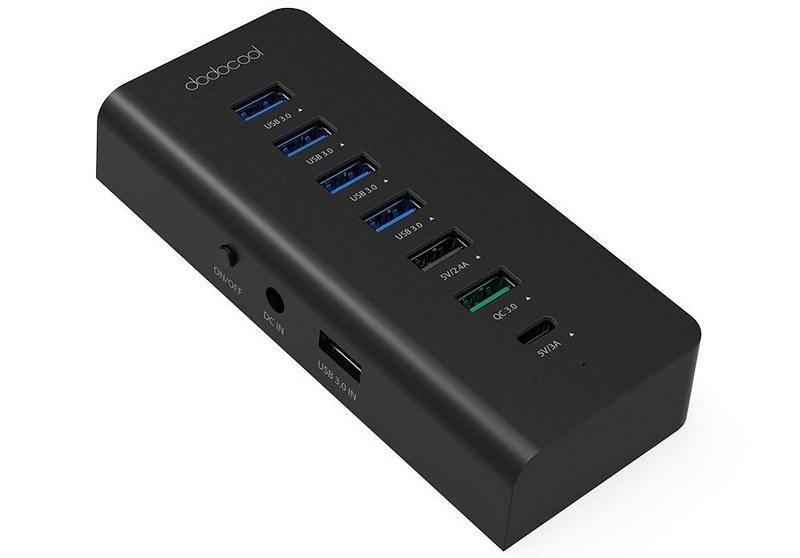 dodocool 7ポート USBハブ 写真 (1)