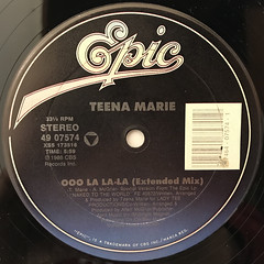 TEENA MARIE:OOO LA LA LA(LABEL SIDE-A)