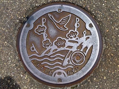 Oshima Toyama, manhole cover 4 (富山県大島町のマンホール4)
