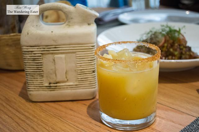 Gasolina El de Pulque - Mezcal based cocktail with soursop, guava, passion fruit