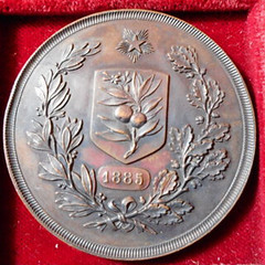 1885 Italy Horticultural Companies Medal reverse