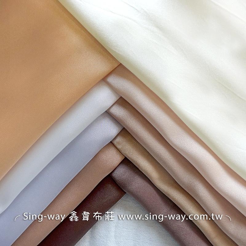 LD490045 白金黃色系 素面緞面 亮面節慶裝飾 桌巾 表演舞台禮服 衣服內裡 服裝布料